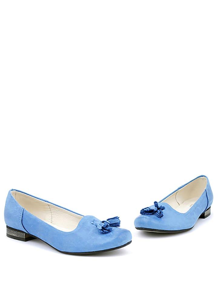 Zapato Leder-Ballerinas in Blau