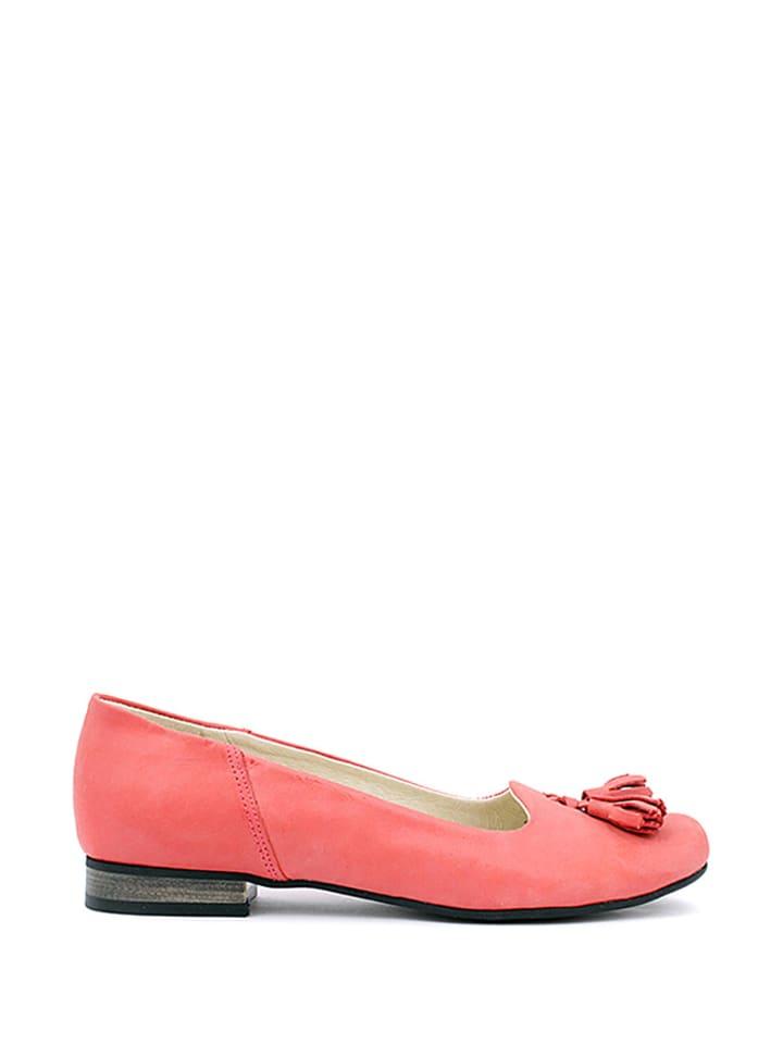 Zapato Leder-Ballerinas in Rot