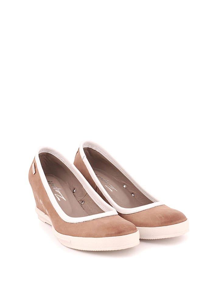 Zapato Leder-Keilpumps in Hellbraun
