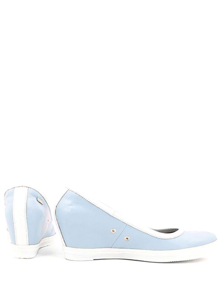 Zapato Leder-Keilpumps in Hellblau