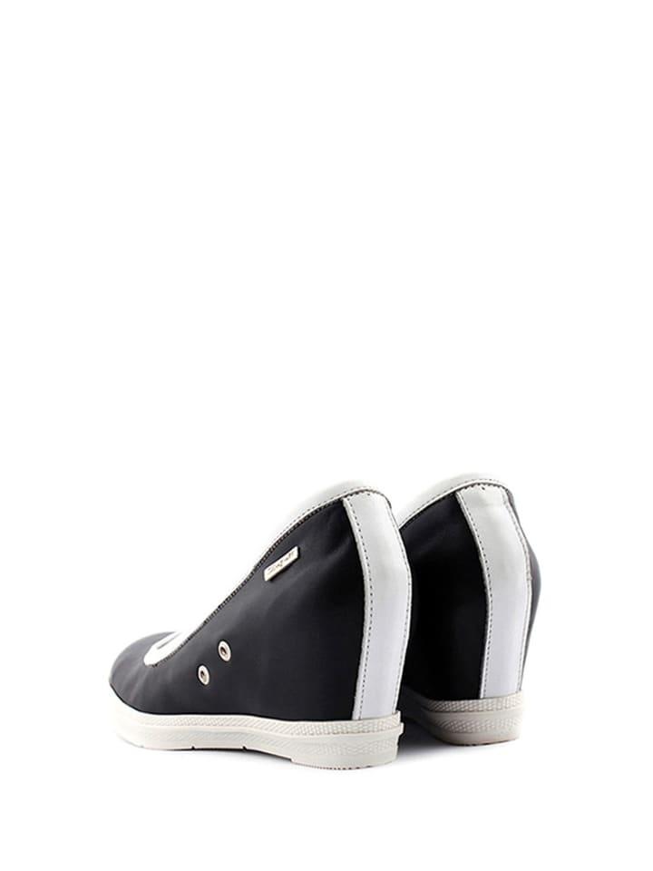 Zapato Leder-Keilpumps in Schwarz
