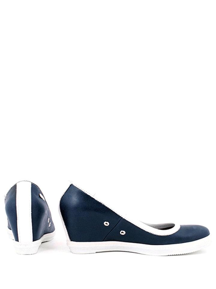Zapato Leder-Keilpumps in Dunkelblau