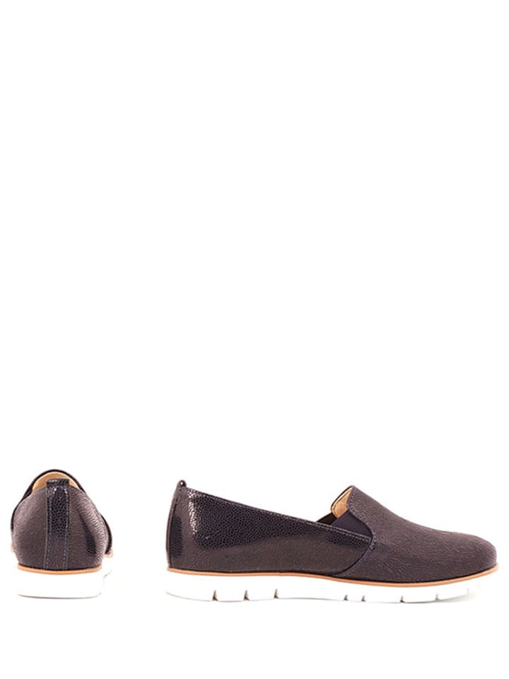 Zapato Leder-Slipper in Dunkelblau