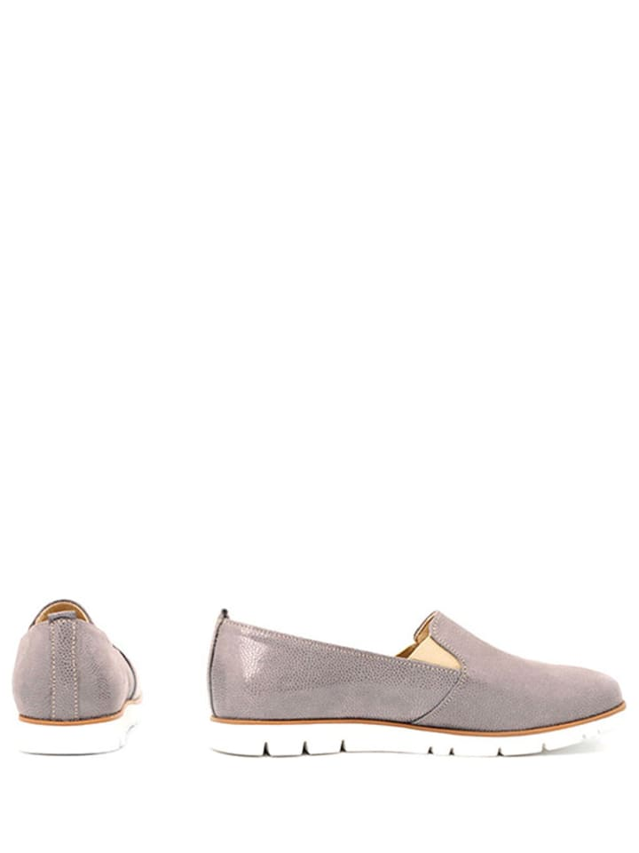Zapato Leder-Slipper in Grau