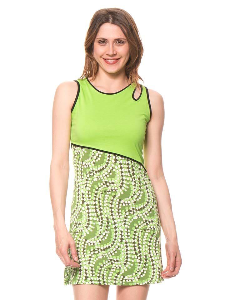 Bamboo's fashion Kleid in Grün
