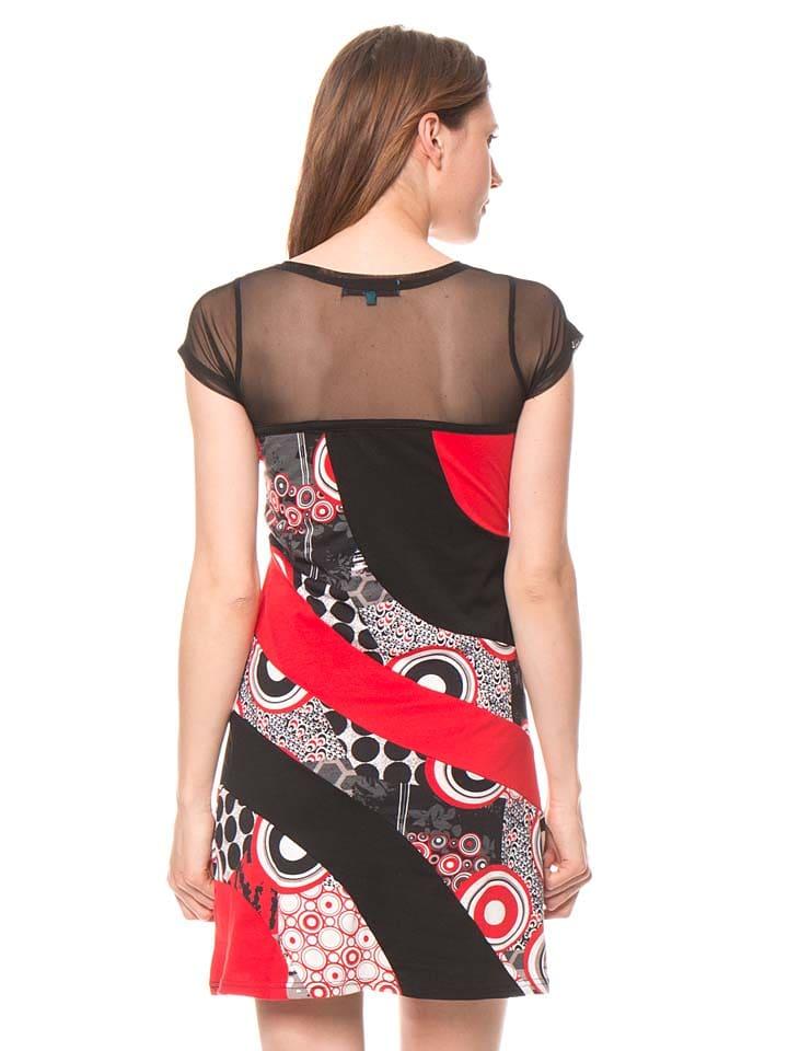 Bamboo's fashion Kleid in Schwarz/ Rot