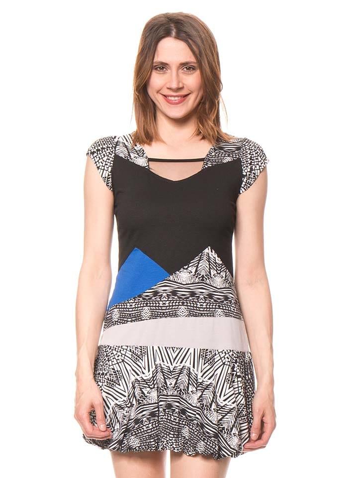 Bamboo's fashion Kleid in Schwarz/ Weiß/ Blau