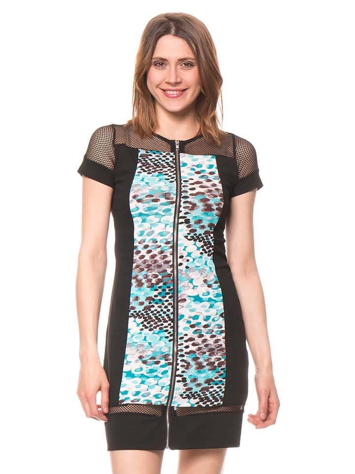 Bamboo's fashion Kleid in Schwarz/ Türkis