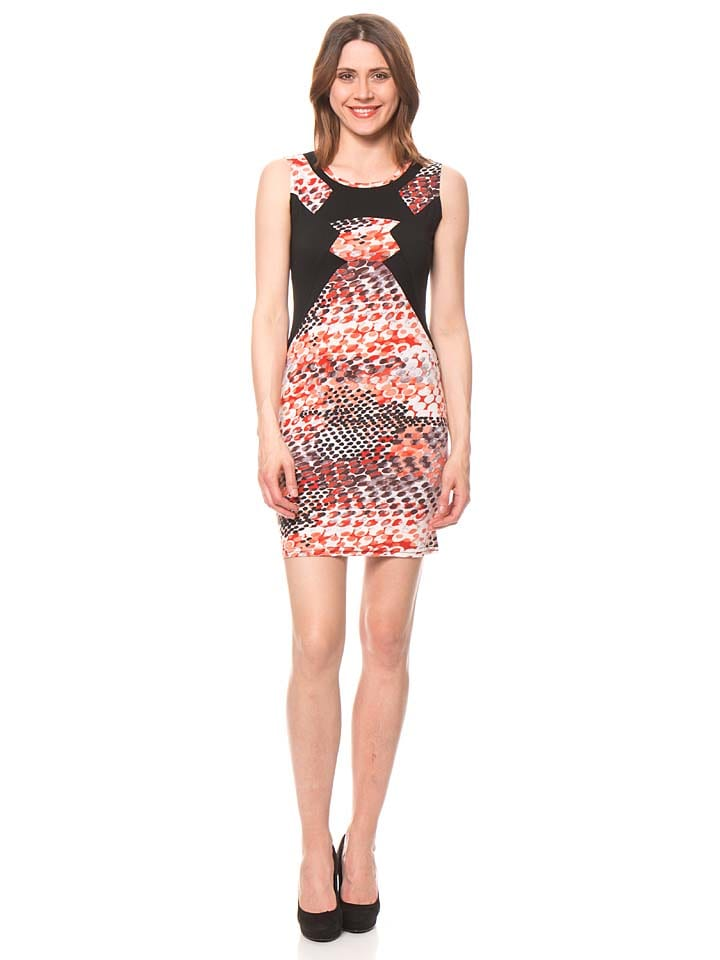 Bamboo's fashion Kleid in Rot/ Schwarz