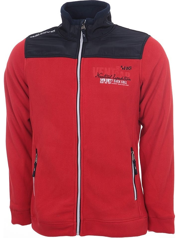 Vent du Cap Fleecejacke in Rot