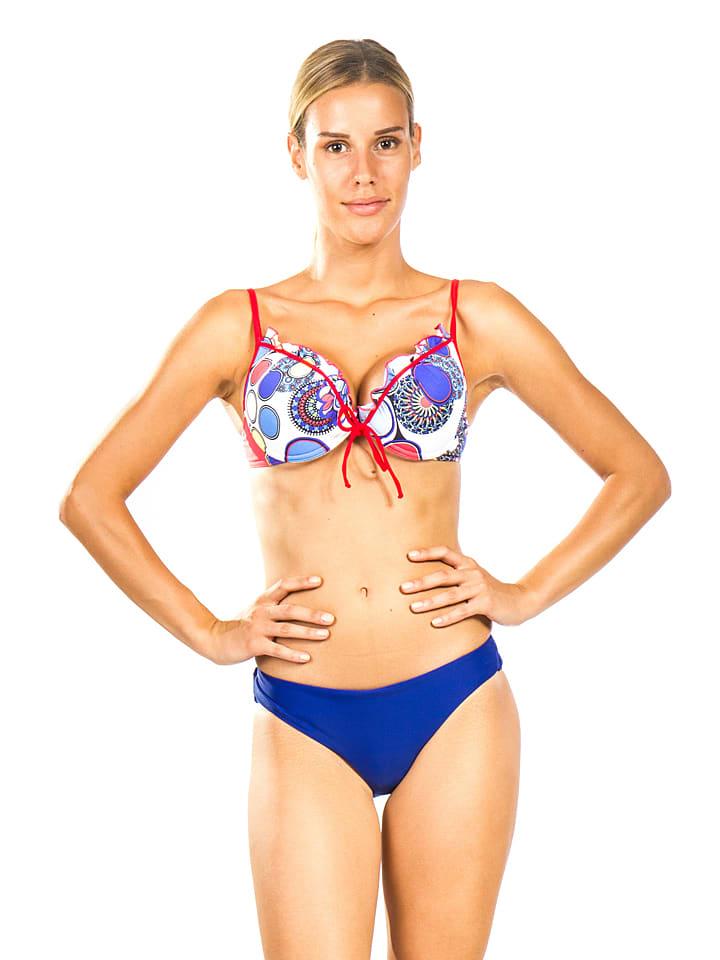 """Farfala Bikini """"Susane"""" in Blau/ Bunt"""