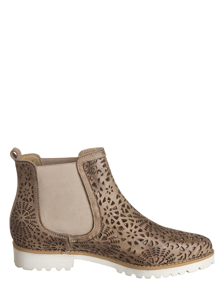 Otto Kern Leder-Chelsea-Boots in Taupe