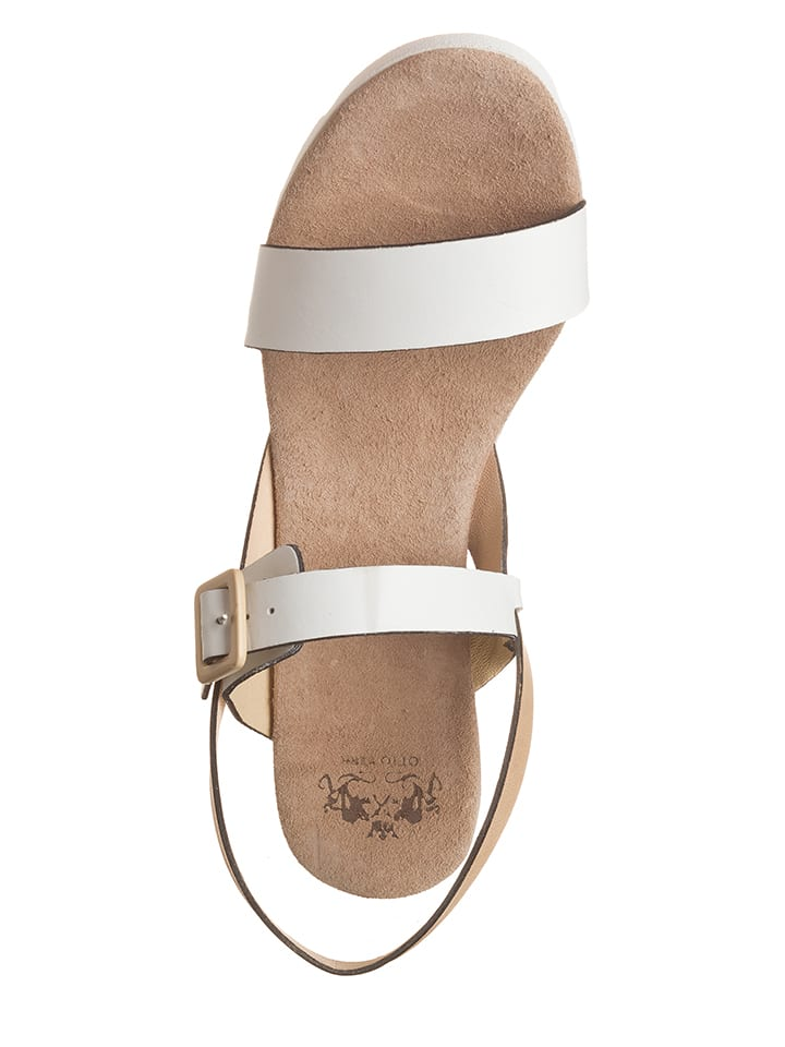 Otto Kern Leder-Sandaletten in Weiß