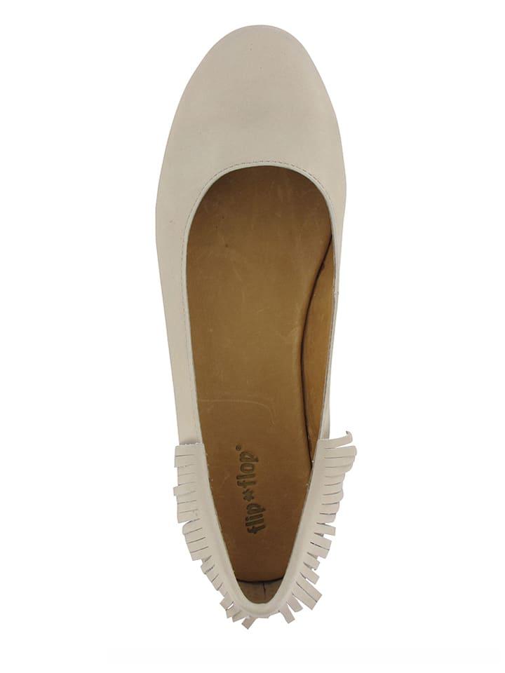 "Flip Flop Leder-Ballerinas ""Yakkha"" in Beige"