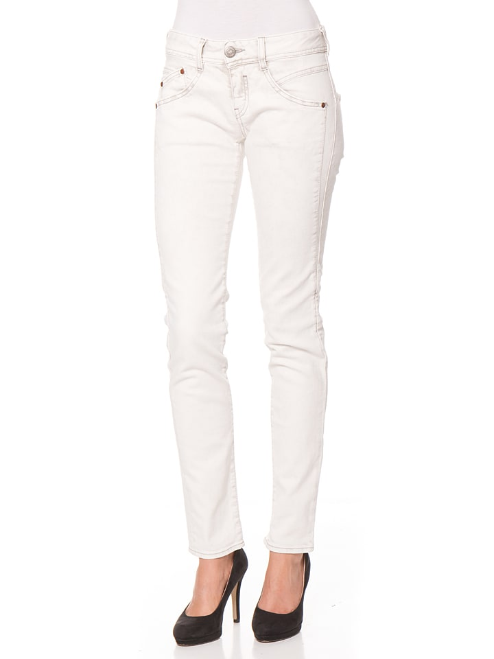 "Herrlicher Jeans ""Gila"" - Regular fit - in Creme"