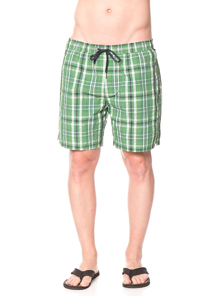 Marc O'Polo Badeshorts in Grün