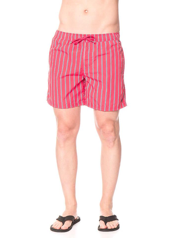 Marc O'Polo Zwemshort rood/donkerblauw