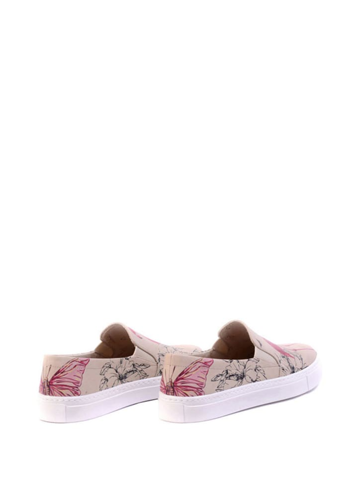 Goby Goby Flache Slipper  in beige