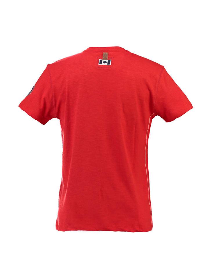 """Canadian Peak Shirt """"Jontario"""" in Rot"""