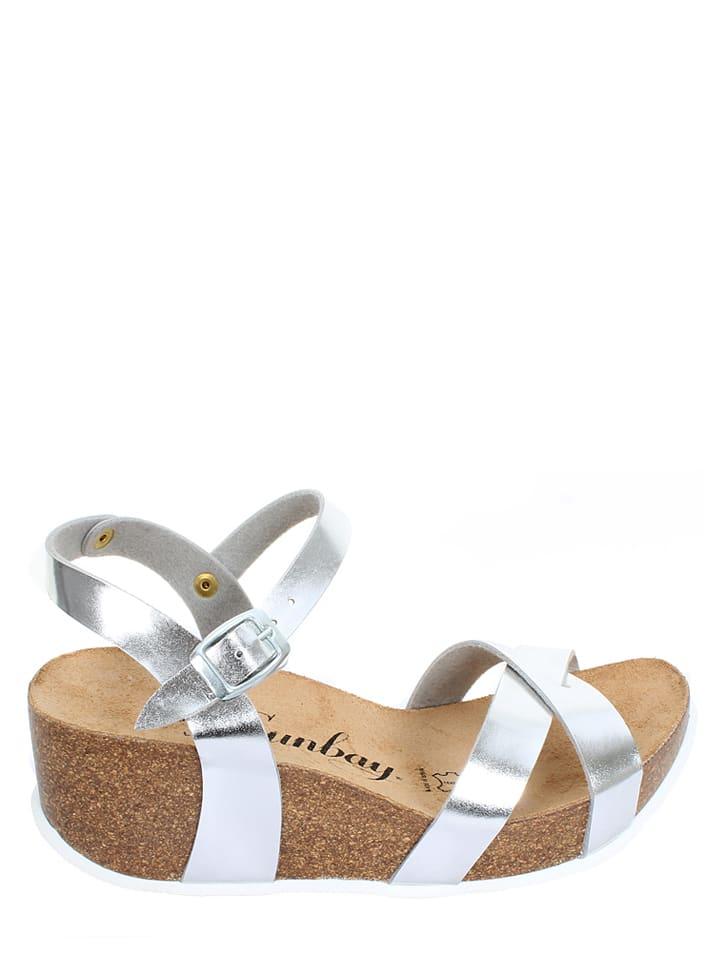 "Sunbay Sandaletten ""Pivoine"" in Silber"