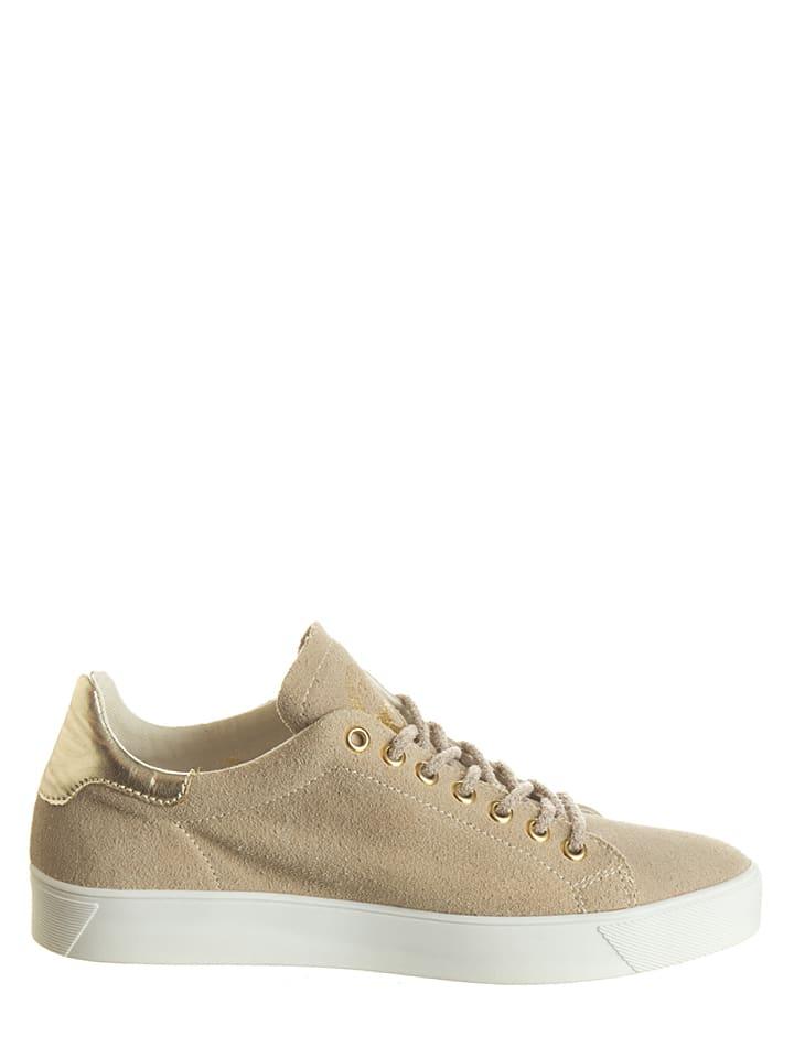 "Napapijri Leder-Sneakers ""Minna"" in Beige"