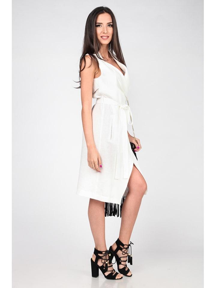 Carla Puro Lino Carla Puro Lino Knielange Kleider  in weiß