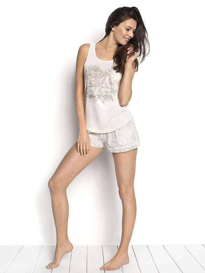 "ESOTIQ Pyjama-Oberteil ""Shiley"" in Creme"