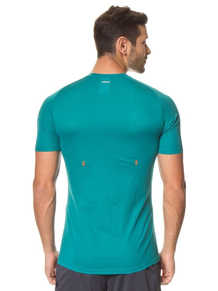 Adidas Funktionsshirt in Grün/ Türkis