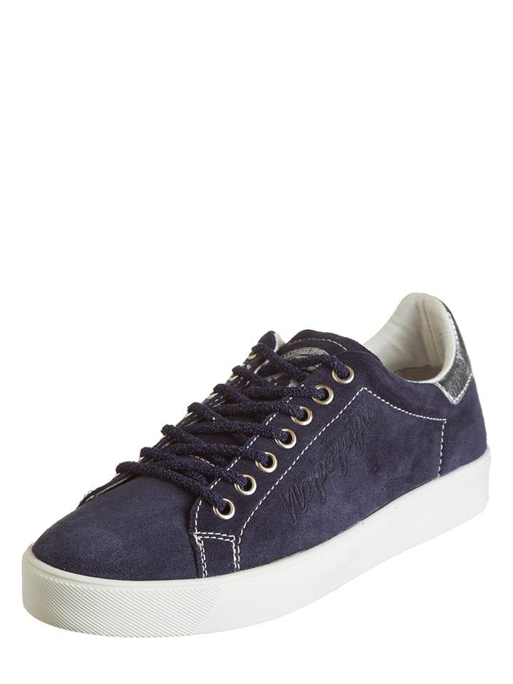 Napapijri Leder-Sneakers in Dunkelblau