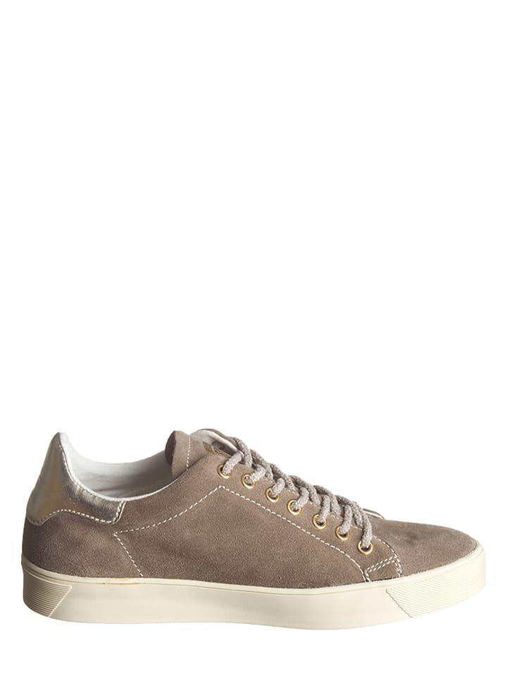 """Napapijri Leder-Sneakers """"Minna"""" in Graubraun"""