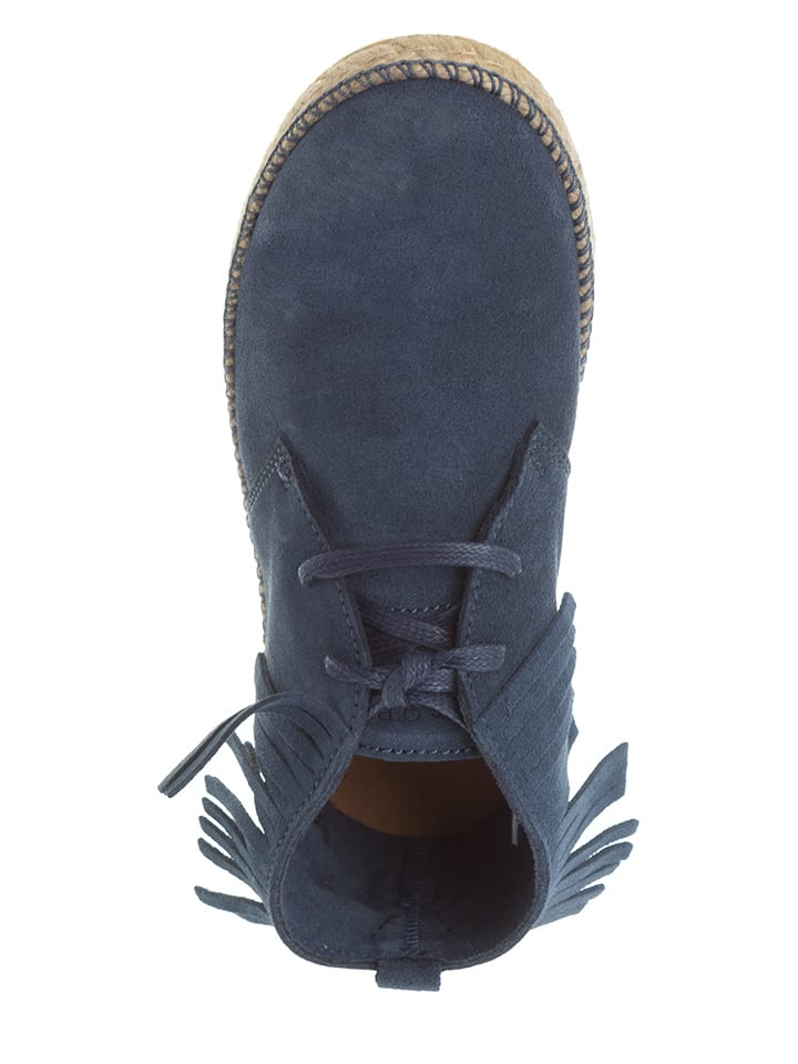 Marc O'Polo Shoes Leder-Boots in Blau