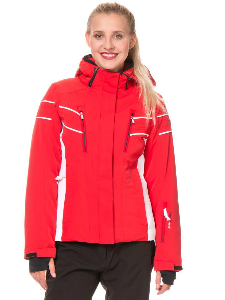 CMP Kurtka narciarska w kolorze czerwono-białym