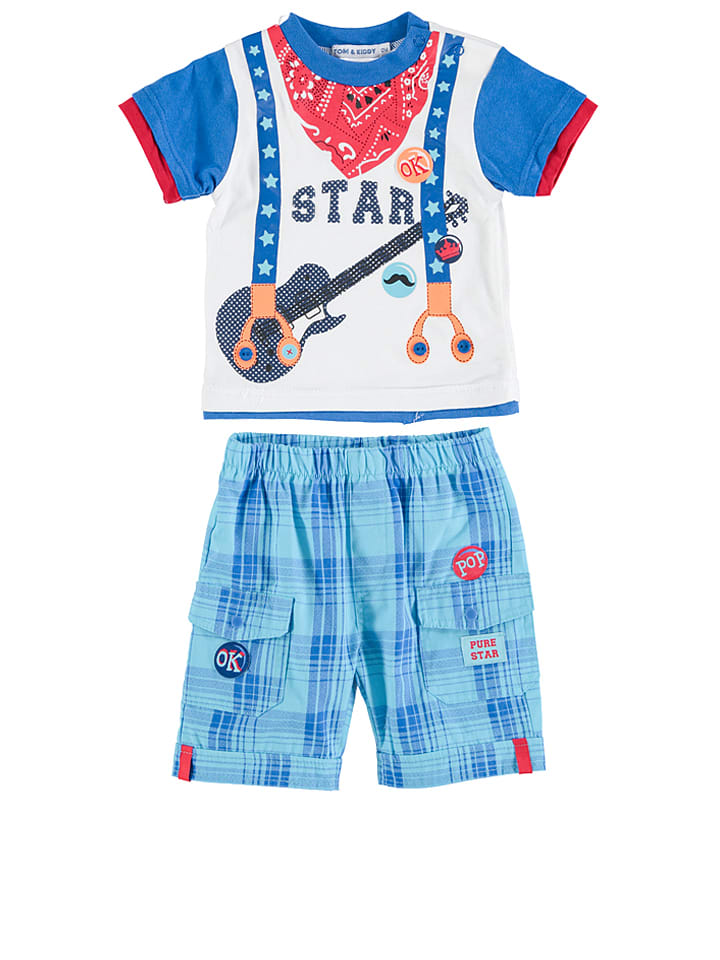 TOM & KIDDY 2-delige outfit blauw
