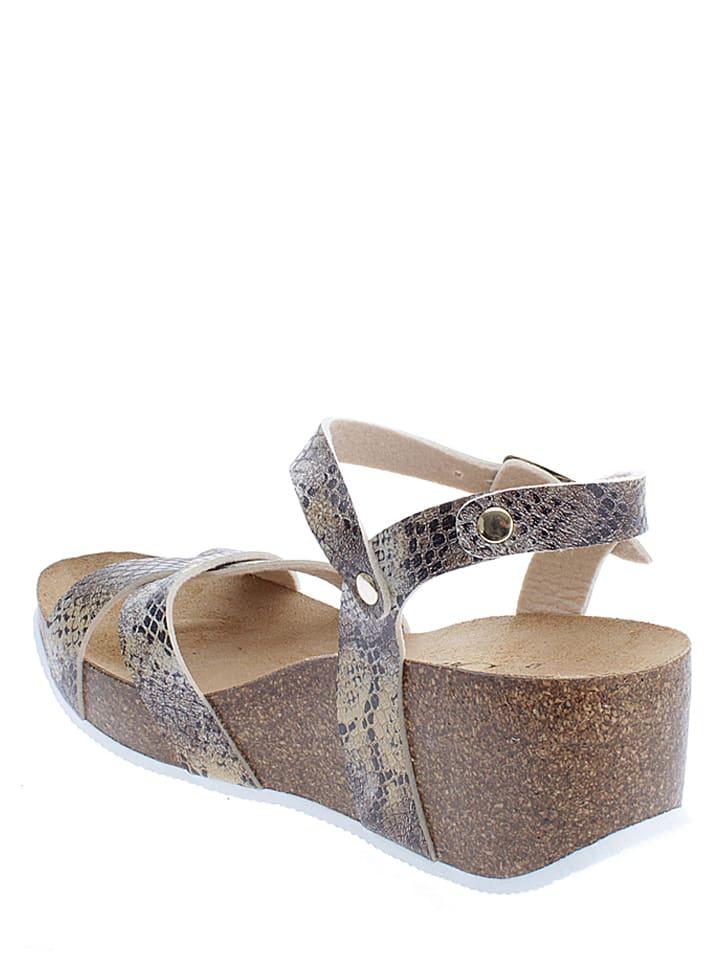 Sunbay Sandaletten in Beige/ Gold