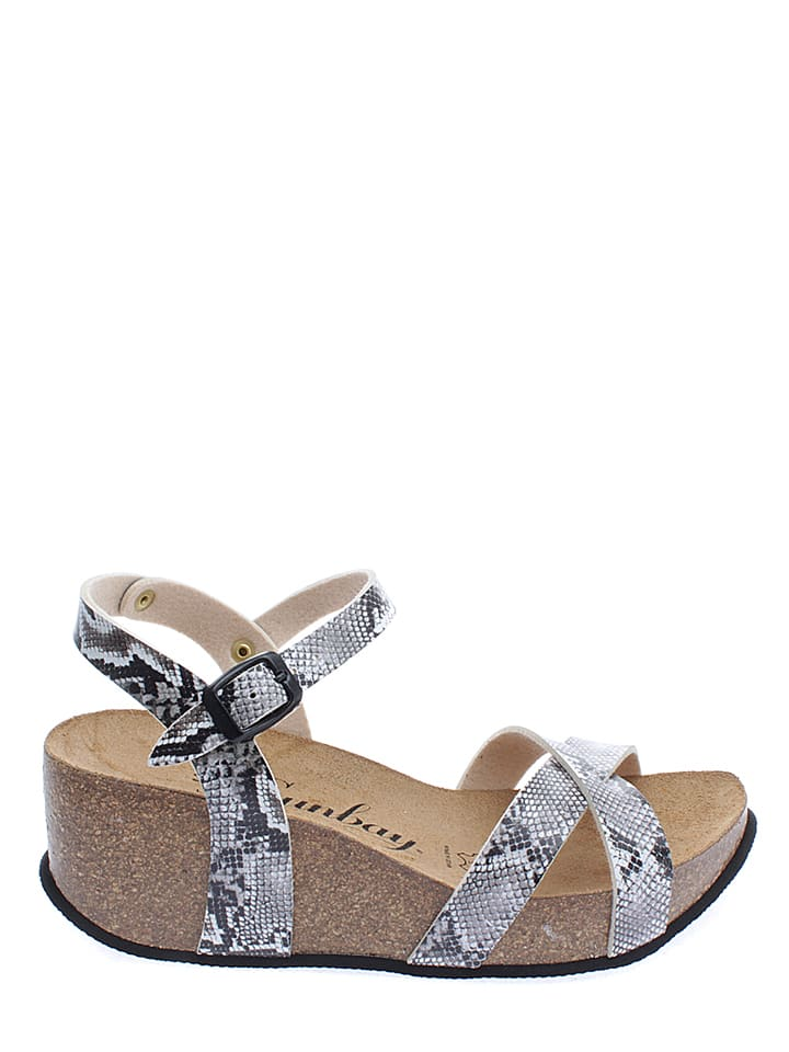 Sunbay Sandaletten in Schwarz/ Weiß