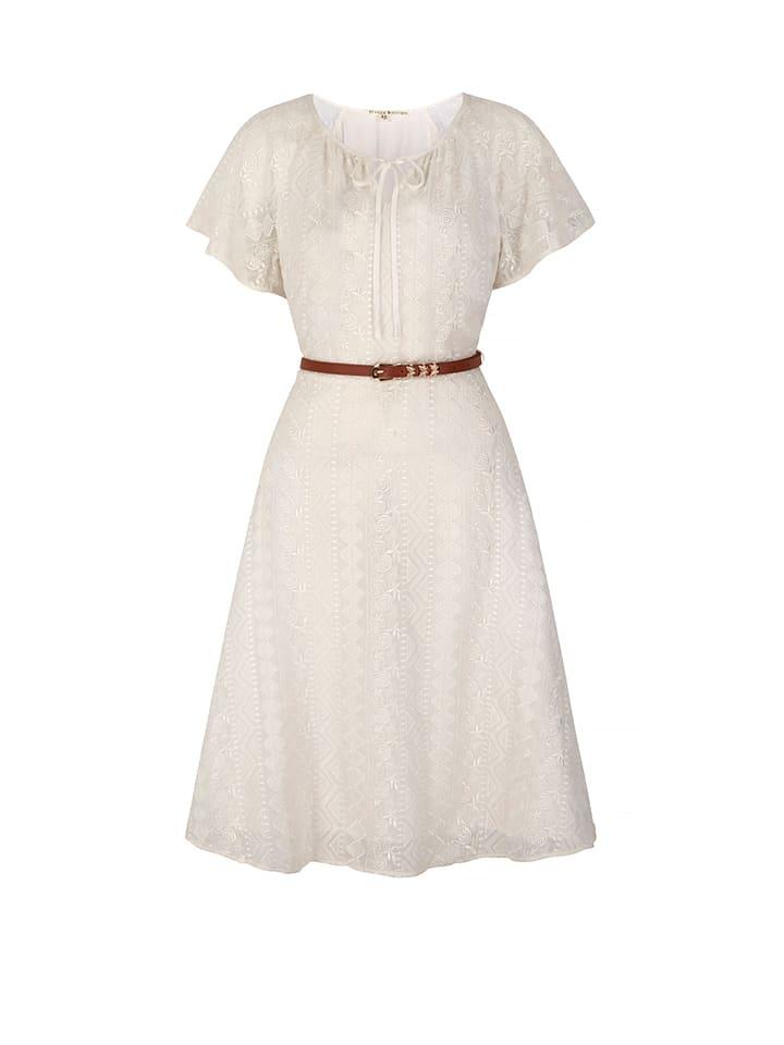 Uttam Boutique Kleid in Creme