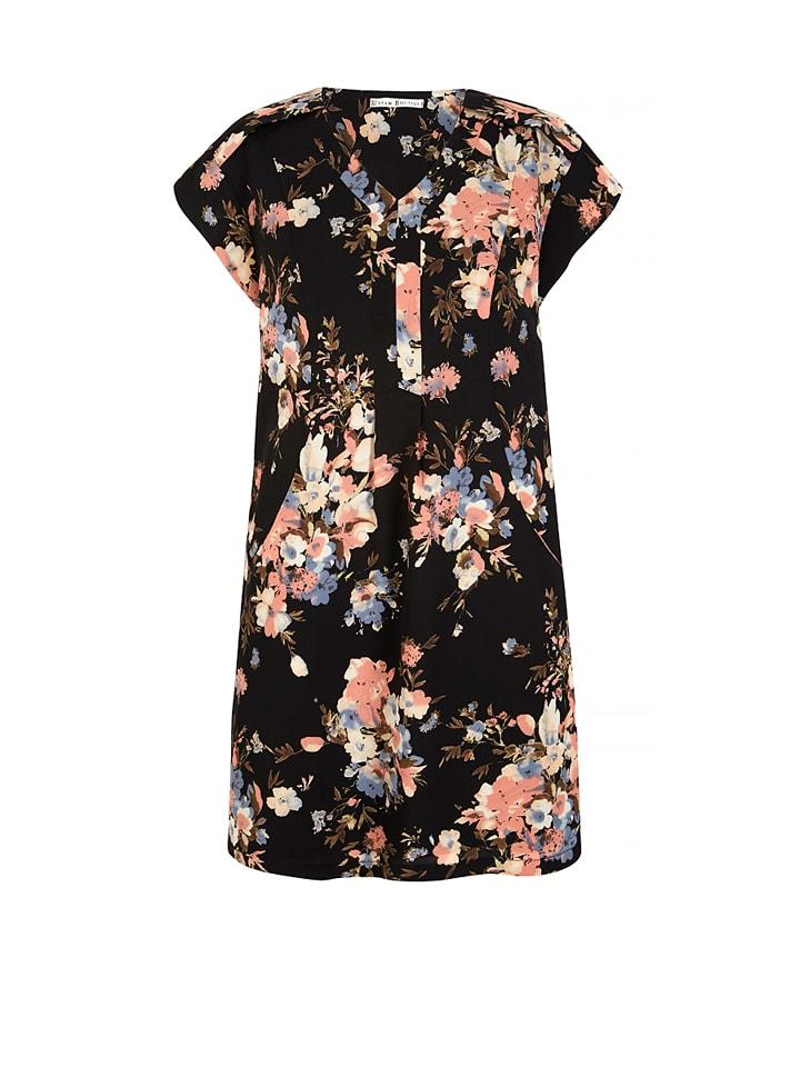 Uttam Boutique Kleid in Schwarz/ Bunt