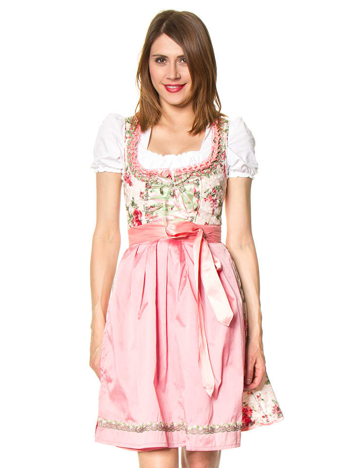 stockerpoint mini dirndl rosella in rosa gr n. Black Bedroom Furniture Sets. Home Design Ideas