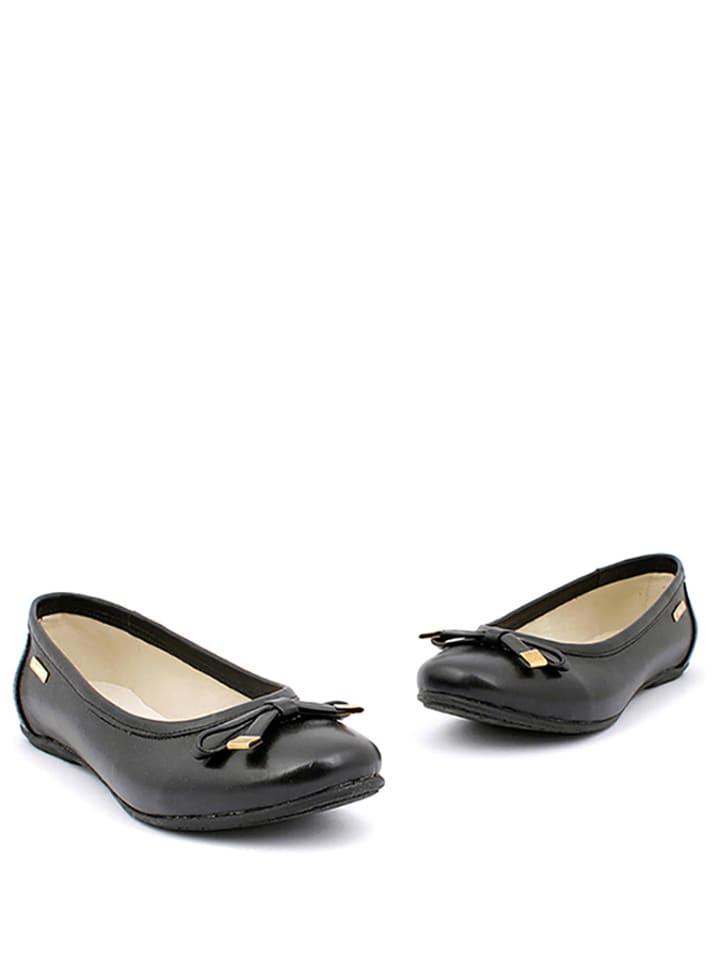 Zapato Leder-Ballerinas in Schwarz