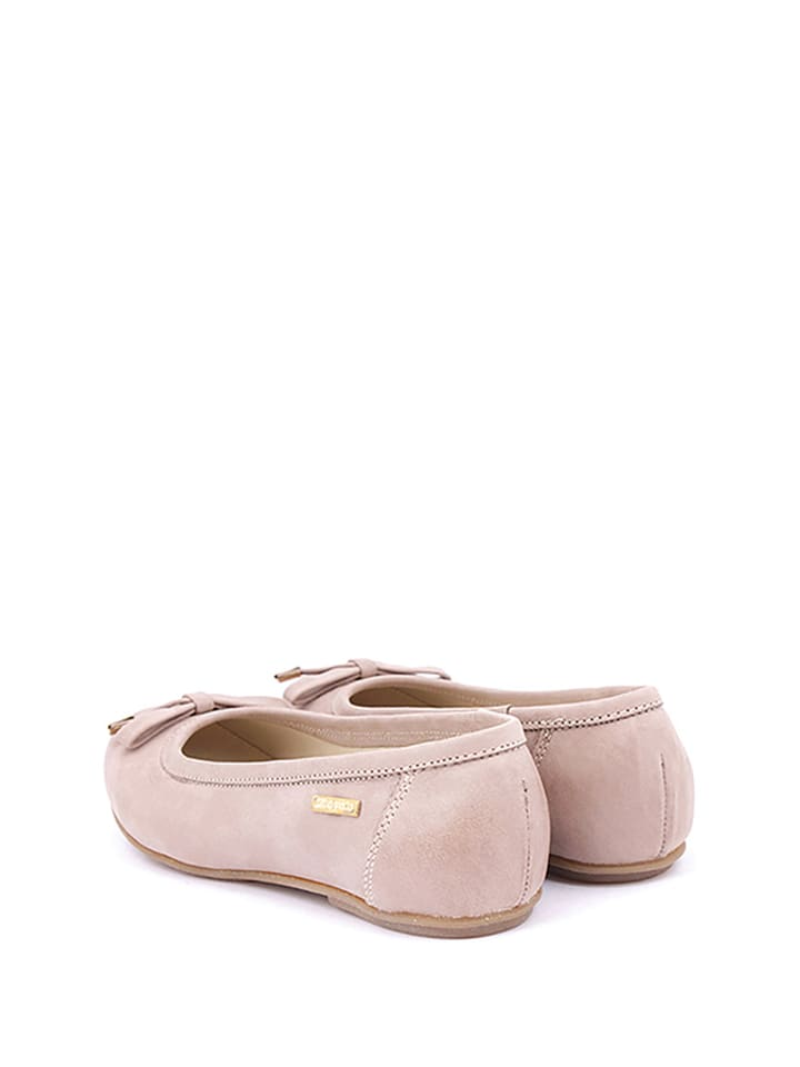 Zapato Leder-Ballerinas in Hellbraun