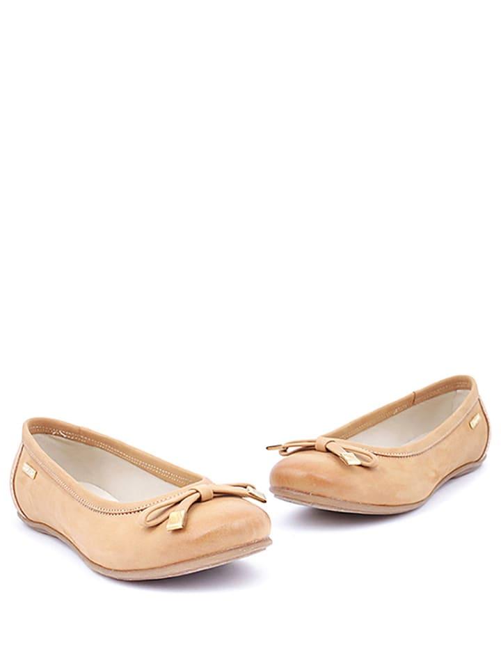 Zapato Leder-Ballerinas in Beige