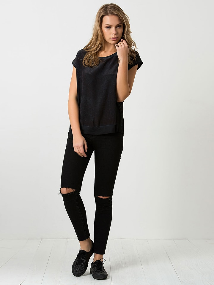 SILK AND CASHMERE Shirt in Anthrazit