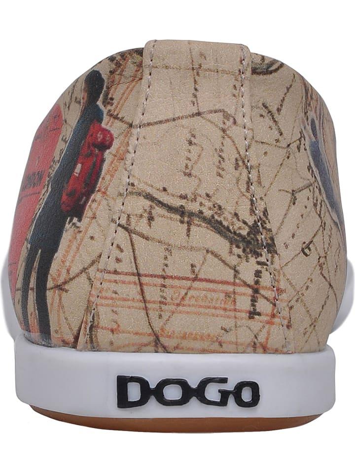 "Dogo Slipper ""Travel Lover"" in Beige/ Bunt"