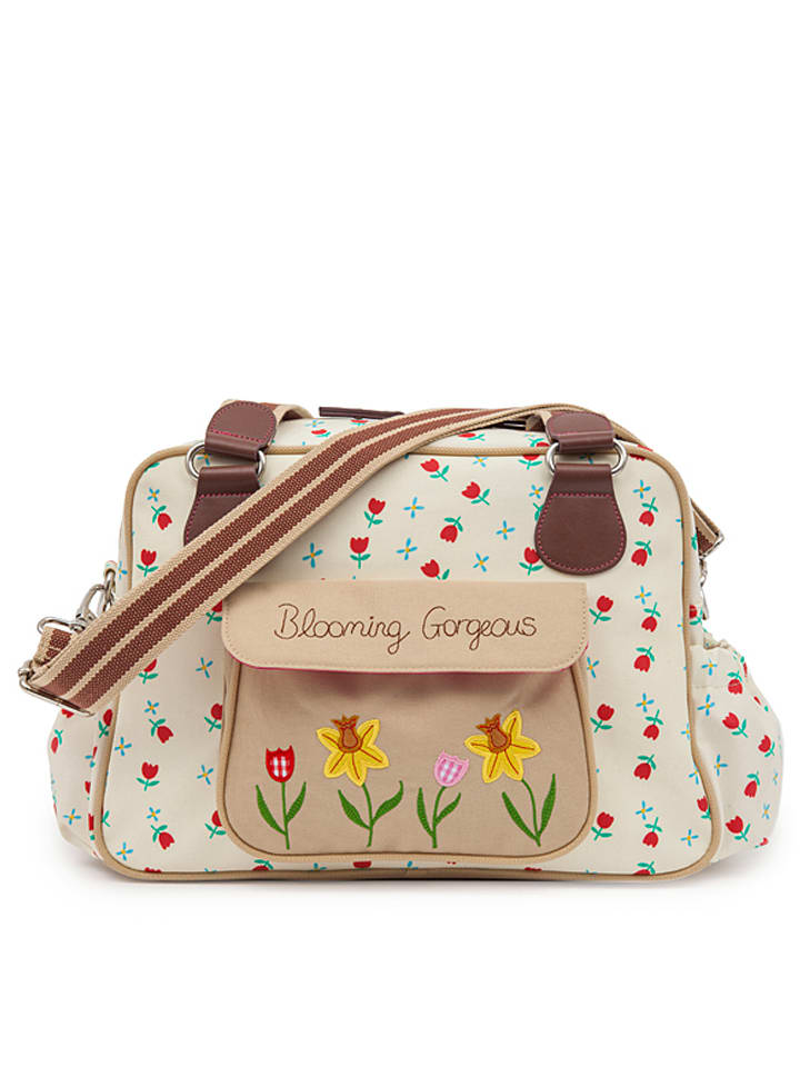 """Pink Lining Wickeltasche """"Blooming Gorgeous"""" in Creme - (B)38 x (H)25,5 x (T)16 cm"""