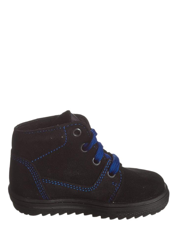 Richter Shoes Leder-Sneakers in Schwarz