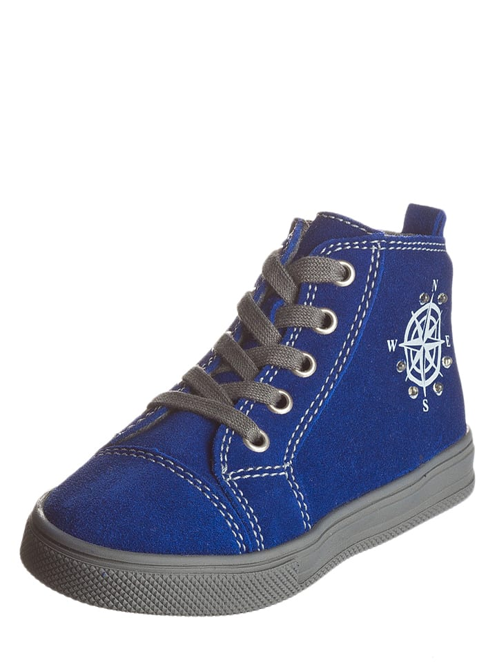 Richter Shoes Leder-Sneakers in Blau