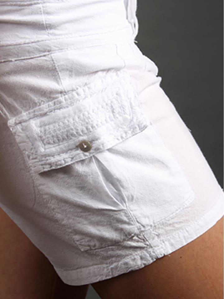 """LA COTONNIERE Shorts """"Safari"""" in Weiß"""