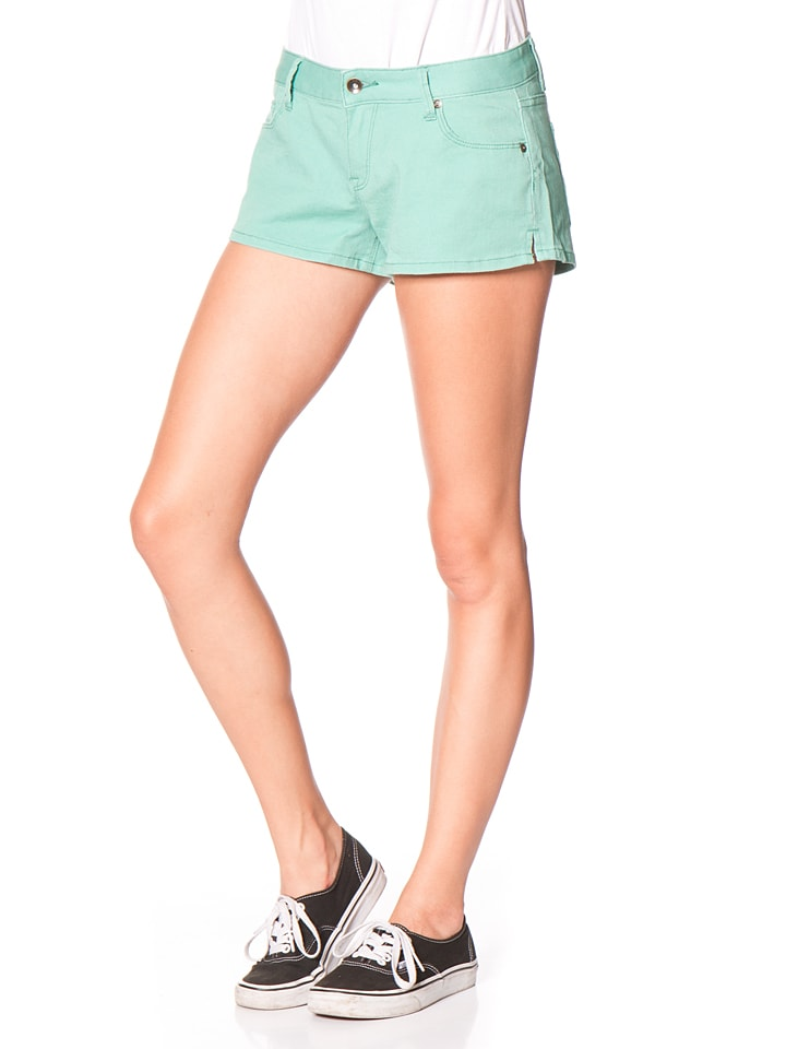 """Roxy Jeansshorts """"Forever Colors"""" in Grün"""