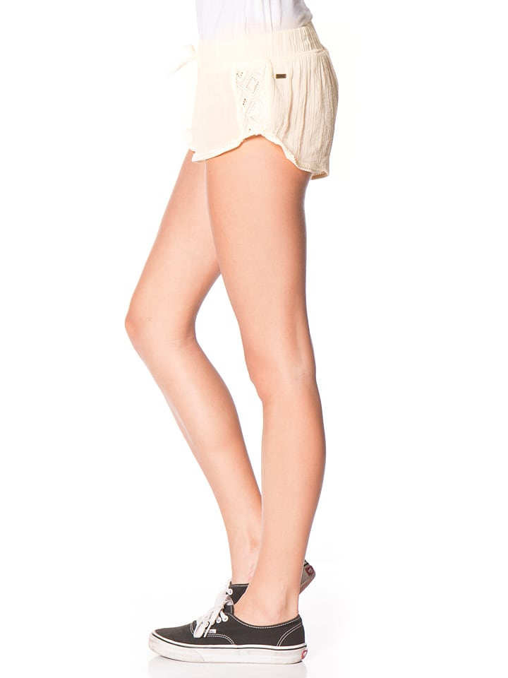"Roxy Shorts ""Soft Crochet"" in Creme"