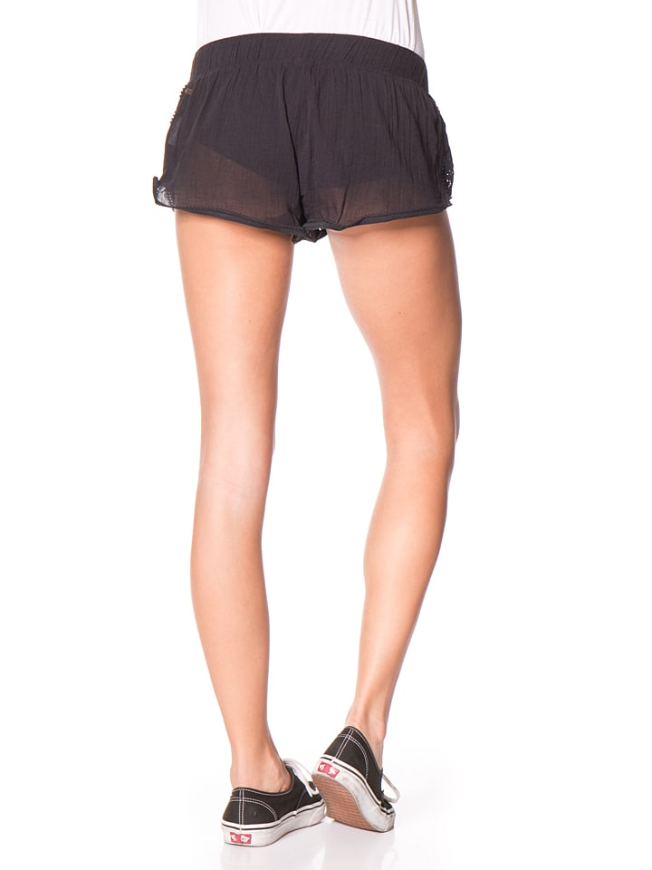 "Roxy Shorts ""Soft Crochet"" in Schwarz"